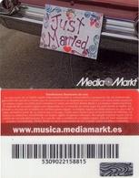TARJETA REGALO DE ESPAÑA, GIFT CARD. MEDIA MARKT. 006. - Tarjetas De Regalo