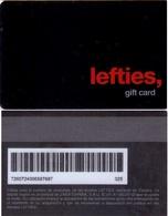 TARJETA REGALO DE ESPAÑA, GIFT CARD. LEFTIES. 008. - Tarjetas De Regalo