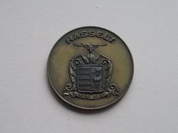 PHILIPS HASSELT - 17.IX.1956 ( Koperkleur 47,4 Gr. / 50 Mm. - EXF - Details, Zie Foto's ) - Tokens Of Communes
