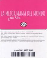 TARJETA REGALO DE ESPAÑA, GIFT CARD. C&A. 011. - Tarjetas De Regalo
