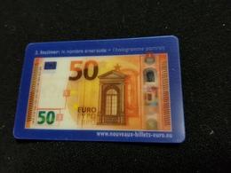 Carte BILLET DE 50 EURO Impression En Relief , Transparence , Incliner ( L'hologramme Portrait Et Le Nombre D'émeraude ) - Specimen