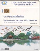 VIETNAM(chip) - Ho Guom, Cardphone Vietnam 100000D, CN : 0200, Chip GEM3.3, Used - Vietnam