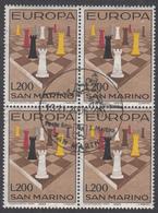 SAN MARINO  EUROPA  1965 Very Fine Used BLOCK Of 4 - Europa-CEPT