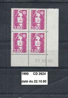 CD4 De 1990 Neuf** Y&T N° 2624 Daté Du 22.10.90 - Ecken (Datum)