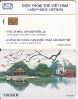 VIETNAM(chip) - Ho Guom, Cardphone Vietnam 100000D, CN : 0300, Chip GEM3.1, Used - Vietnam