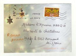 Enveloppe Oblitération LA POSTE 37668A-02 23/01/2018 - Postmark Collection (Covers)