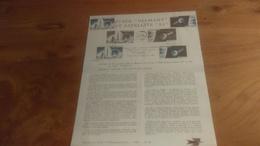 145/ 1965 N°  34 FUSEE DIAMANT ET SATELLITE A1 - Documents De La Poste