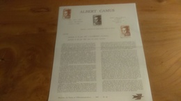 145/ 1967 N° 18 ALBERT CAMUS - Documents Of Postal Services