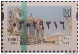 Lebanon 2016 NEW MNH Fiscal Revenue Stamp - 1000L Beirut Center - St George Cathedral & Al Amine Mosque - Lebanon
