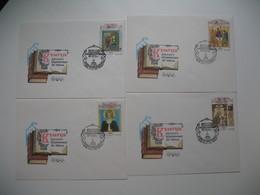 Année 1991 Et 1992  Russie  Tableaux Religieux   Lot De 6 Lettres - Paintings