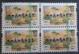 Lebanon 2009 Fiscal Revenue Stamp 100 L - MNH - Lebanese Nature - Blk/4 - Liban