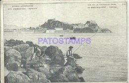 86191 GREECE CORFOU VIEW OF THE CITADELLE WINDMILL MOUNT POSTAL POSTCARD - Greece