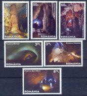 RO 2011-6493-8 CAVE, ROMANIA, 1 X 6v. MNH - Geologie