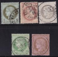 Divers Annuler Lot Sur Ceres Perforé #14 - Marcophily (detached Stamps)