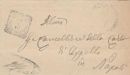 Forlì Del Sannio. 1908. Annullo Tondo Riquadrato FORLI'DEL SANNIO (CAMPOBASSO), Su Lettera In Franchigia - Storia Postale