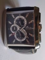 Superbe Montre Chronographe Lotus - Dateur - Bracelet Cuir - 5 ATM Water Resist - Horloge: Luxe