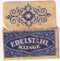 LAMETTA DA BARBA - EDELSTAHL KLINGE - 1938 - Razor Blades