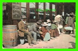 "INDIENS - PUGET SOUND INDIANS ""SIWASH"" SEATTLE - ANIMATED - TRAVEL IN 1908 -  RHODES BROS - - Indiens De L'Amerique Du Nord"