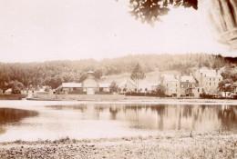 Bagnoles De L'Orne Plan D'eau Halles Ancienne Photo Vers 1890 - Photographs