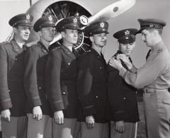 US Army Officiers Remise De Decorations Militaria Ancienne Photo 1950's ? - Aviation