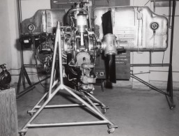 Texas Randolph Air Force Base Moteur D'Avion Aviation Ancienne Photo 1950's - Aviation