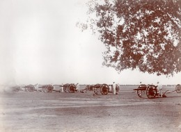 Inde Lucknow? Colonie Anglaise Royal Field Artillery Artillerie ? Canons Ancienne Photo 1910 - War, Military