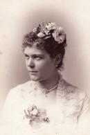 USA Soprano Hongroise Etelka Gerster Opera Autographe Ancienne Photo 1878 - Dédicacées