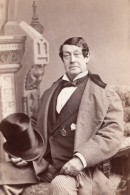USA Portrait De L'Acteur De Theatre William Warren Autographe Ancienne Photo 1870's - Dédicacées