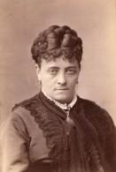 USA Portrait De L'Actrice De Theatre Fanny Janauschek Autographe Ancienne Photo 1870's - Signed Photographs