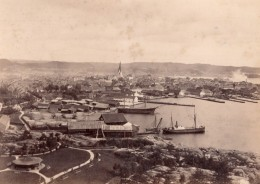 Norvege Kristiansand Vue Generale Eglise Port Ancienne Photo 1890 - Old (before 1900)