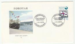 1976 Faroe Islands FDC FLAG Post Stamps Cover Faroes - Faroe Islands