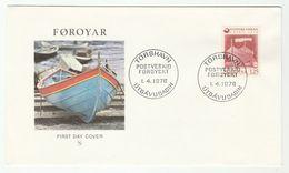 1976 Faroe Islands FDC BOAT Post Stamps Cover Faroes - Faroe Islands