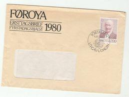1980 Faroe Islands FDC EUROPA Stamps Window Cover Faroes - Faroe Islands