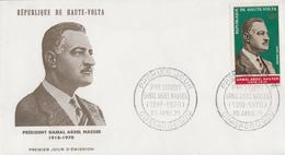 Enveloppe  FDC   1er   Jour     HAUTE  VOLTA     Président  GAMAL  ABDEL  NASSER   1971 - Haute-Volta (1958-1984)