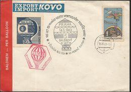 J) 1969 CZECHOSLOVAQUIA, HOT AIR BALLOON, PRAGA 68, MULTIPLE STAMPS, FDC - Czechoslovakia