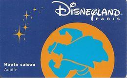 PASS--DISNEY-DISNEYLAND PARIS-1998-HERCULE ADULTE-R° Lune Orange-V° SerieN°98021H-TBE - Pasaportes Disney