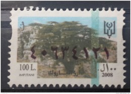 Lebanon 2008 Fiscal Revenue Stamp 100 L - MNH - Barouk Forest Cedars Trees - Lebanon
