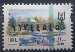Lebanon 2010 Fiscal Revenue Stamp 100 L - MNH - Snow Of Lebanon - Líbano