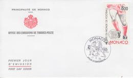 Enveloppe  1er  Jour   MONACO    Coupe  Du   Monde  De  Football   1994 - 1994 – Estados Unidos
