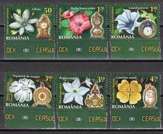 RO 2013- II FLOWERS AND WATCHES, ROMANIA, 1 X 8v, MNH - Pflanzen Und Botanik