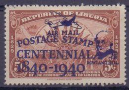Rep.of LIBERIA:1941:Y.PA19B (=253B Overprinted) Dentelled/avec Légère Trace De Charnière/lightly Hinged:## Centenary ... - Liberia