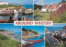 Postcard Around Whitby Sandsend Staithes Robin Hood's Bay Runswick By Salmon  My Ref B22198 - Whitby