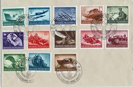 DR 1944 // Mi. 873/885 O Auf Brief (016.195) - Gebraucht