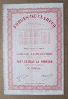 Action Des Forges De Clabecq 274434 / Titre Crée Apres Le 6 Octobre 1944 - Industrie