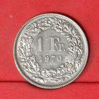 SWITZERLAND 1 FRANCS 1970 -    KM# 24a,1 - (Nº20187) - Suisse