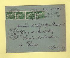 Mericourt - Pas De Calais - Recommande Provisoire - 1947 - Marianne De Gandon - Postmark Collection (Covers)