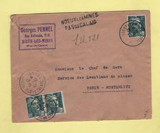 Noeux Les Mines - Pas De Calais - Recommande Provisoire - 1945 - Marianne De Gandon - 1921-1960: Modern Tijdperk