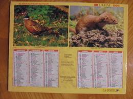 Ancien Calendrier Almanach Du Facteur 1994 - Grand Format : 1991-00