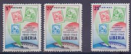 Rep. Of LIBERIA :1947: Y.371-75 Dentelled/neufs/MNH & PA123 Avec Légère Trace De Charnière/lightly Hinged ## Centenary - Liberia