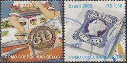 BRAZIL - COMPLETE SET LUBRAPEX 2003, LISBON 2003 (FROM BLOCK) - USED - Briefmarkenausstellungen
